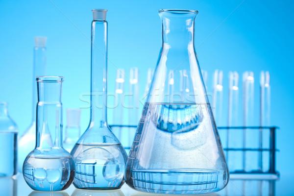 Laboratuvar züccaciye deney tıbbi laboratuvar kimyasal Stok fotoğraf © JanPietruszka