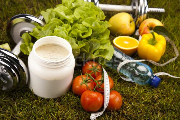 Stok fotoğraf: Vitamin · uygunluk · diyet · yeşil · ot · sağlık · egzersiz