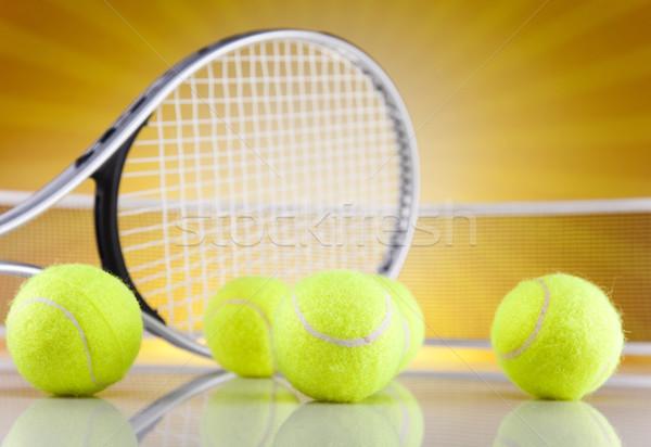 Racchetta da tennis palla sfondo servizio giocare professionali Foto d'archivio © JanPietruszka