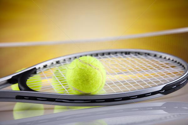 Tennisracket bal achtergrond spelen professionele spel Stockfoto © JanPietruszka
