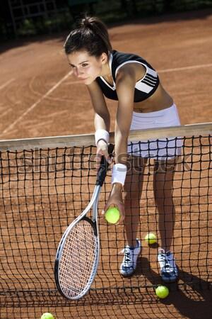 Playing tennis Stock photo © JanPietruszka