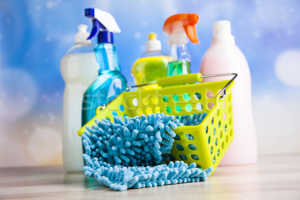 Washing, cleaning stuff, colorful concept Stock photo © JanPietruszka