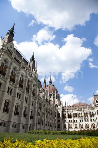 Budapeste ver casa edifício pôr do sol verão Foto stock © JanPietruszka
