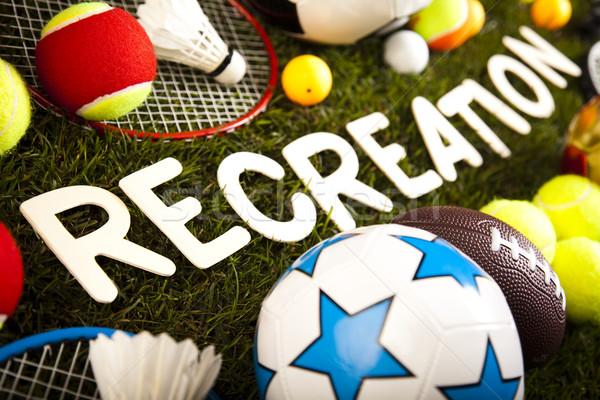 Foto stock: Juego · artículos · deportivos · naturales · colorido · deporte · fútbol