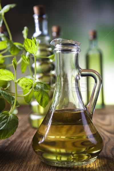 Olijfolie middellandse zee landelijk blad glas groene Stockfoto © JanPietruszka