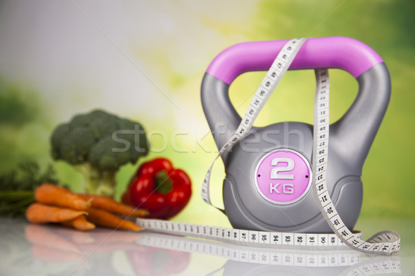 Fitness dieta vitaminas deporte frutas Foto stock © JanPietruszka