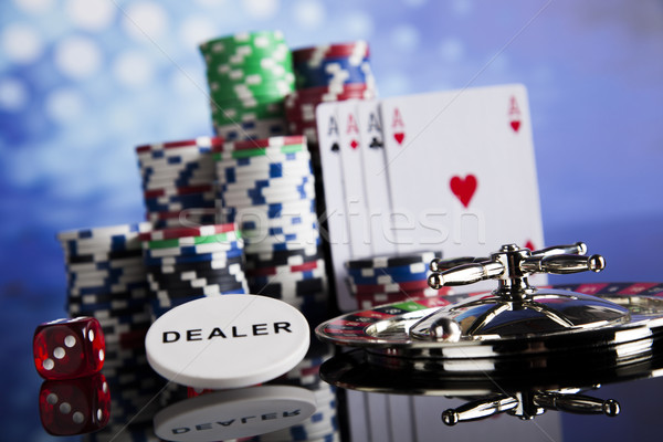 Casino roulette spelen chips leuk zwarte Stockfoto © JanPietruszka