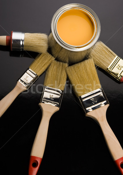 Stok fotoğraf: Boya · fırçalamak · parlak · renkli · soyut · dizayn