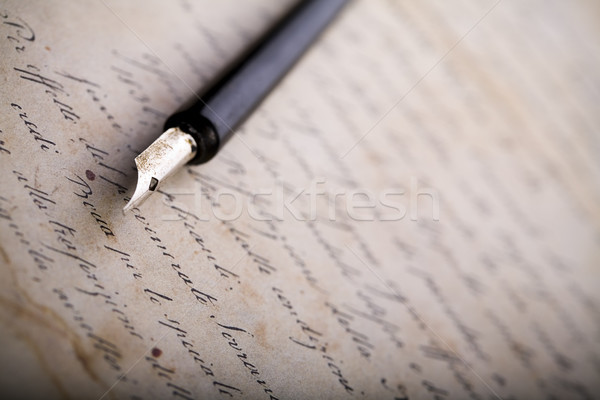 Faded sheet of paper, vintage saturated ambient concept Stock photo © JanPietruszka