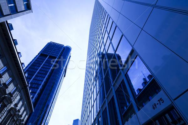Modern business building, bright colorful tone concept Stock photo © JanPietruszka