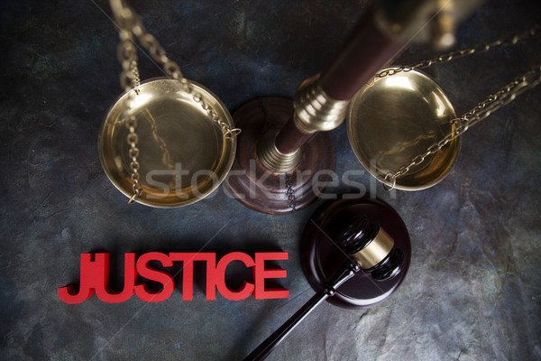 Justice concept, Court gavel,Law theme, mallet of judge Stock photo © JanPietruszka