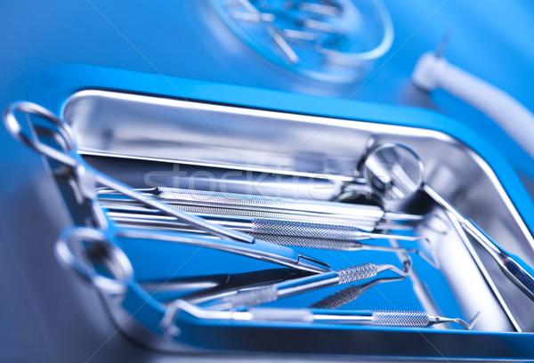 Diş hekimliği Metal tıp ayna araç profesyonel Stok fotoğraf © JanPietruszka