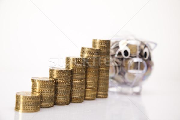 Photo stock: Tirelire · boîte · Finance · porc · or · marché