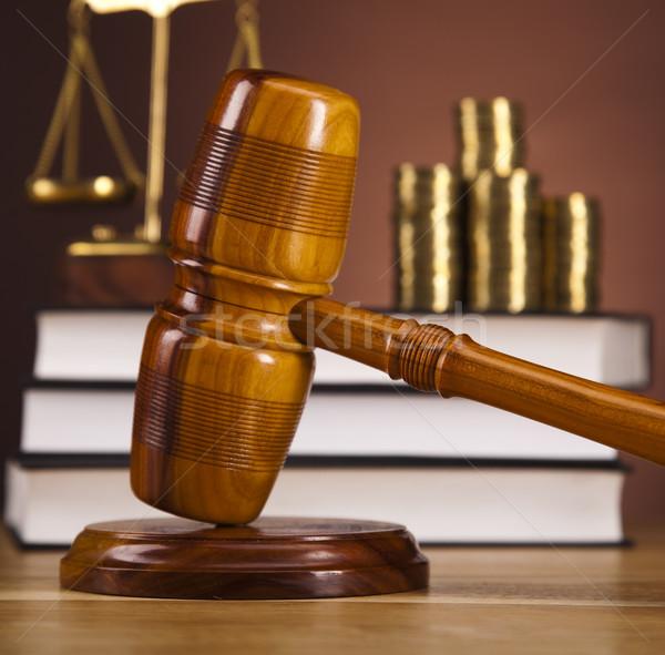 Photo stock: Bois · marteau · justice · bois · droit · marteau