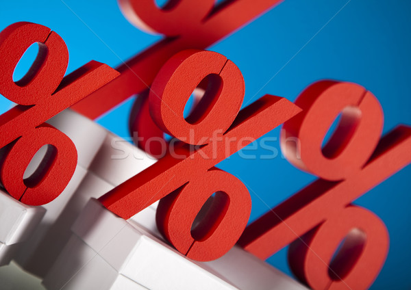 Sales or finance concept, Percent Stock photo © JanPietruszka