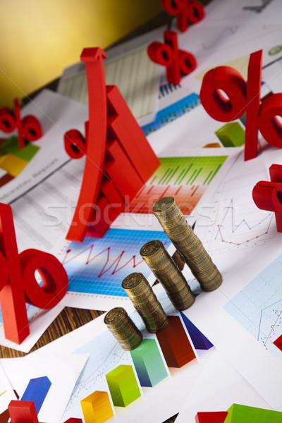 Diagram felirat pénzügy grafikon diagram stock Stock fotó © JanPietruszka