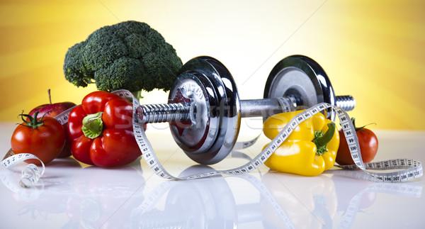 Esportes dieta caloria comida fitness fruto Foto stock © JanPietruszka