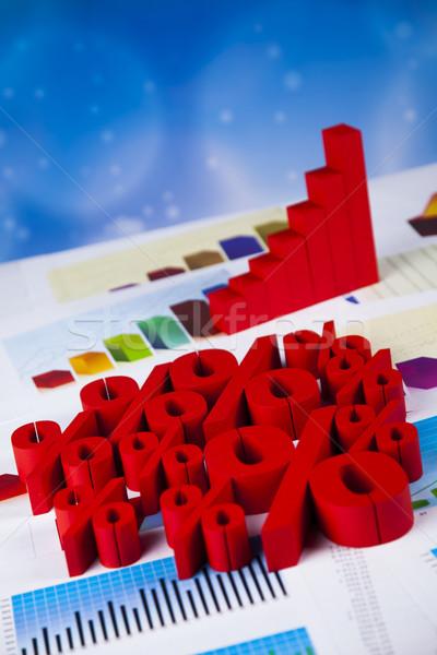 árengedmény százalék felirat piros pénzügy siker Stock fotó © JanPietruszka