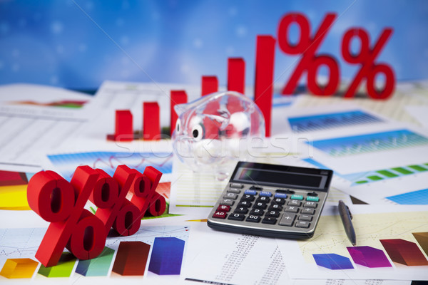 Percentage, Concept of discount colorful tone  Stock photo © JanPietruszka