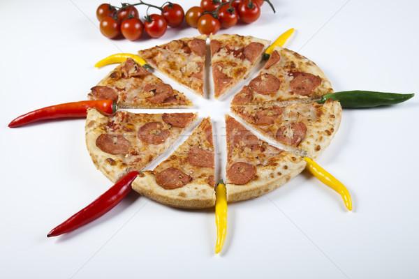 Supreme Pizza, tasty natural food theme Stock photo © JanPietruszka