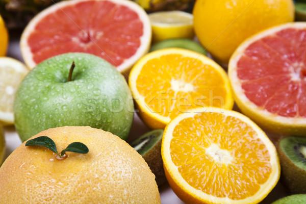 Gyümölcsök fényes színes természet gyümölcs egészség Stock fotó © JanPietruszka