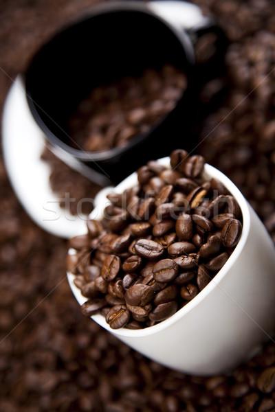 Fincan sıcak kahve canlı parlak doku Stok fotoğraf © JanPietruszka
