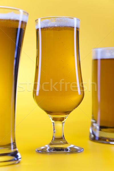 Beer glass, bright vibrant alcohol theme Stock photo © JanPietruszka