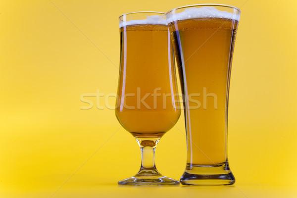 Bier Glas hellen lebendige Alkohol Party Stock foto © JanPietruszka
