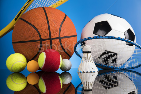 Sport equipment and balls Stock photo © JanPietruszka