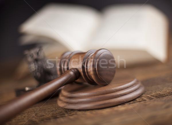 Court gavel,Law theme, mallet of judge Stock photo © JanPietruszka