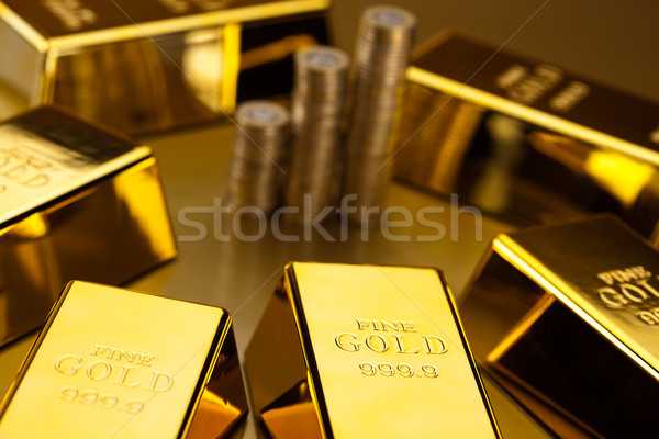 ストックフォト: コイン · 金 · バー · 金融 · お金 · 金属