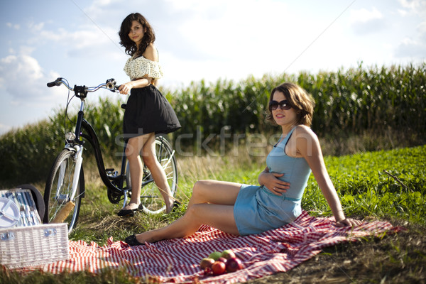 Stock photo: Picnic, summer free time spending