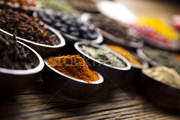 Exotic Spices, orintal cuisine vivid theme Stock photo © JanPietruszka