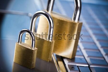 компьютер безопасности современных сеть бизнеса Сток-фото © JanPietruszka