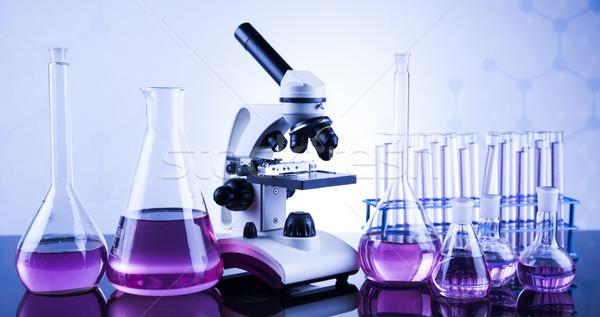 микроскоп медицинской лаборатория изделия из стекла образование медицина Сток-фото © JanPietruszka