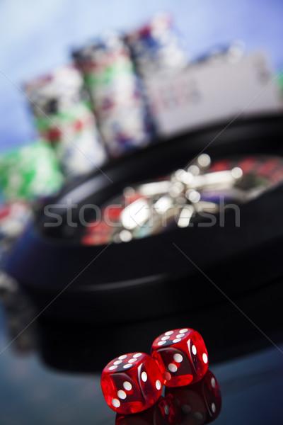 Casino roulette poker chips giocare chip divertimento Foto d'archivio © JanPietruszka
