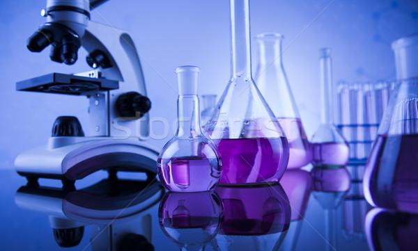 Ciencia químicos laboratorio cristalería salud azul Foto stock © JanPietruszka