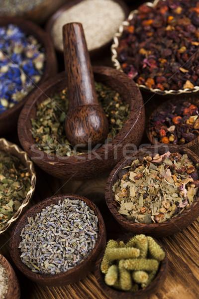 Boom natuurlijke remedie houten tafel natuur schoonheid Stockfoto © JanPietruszka