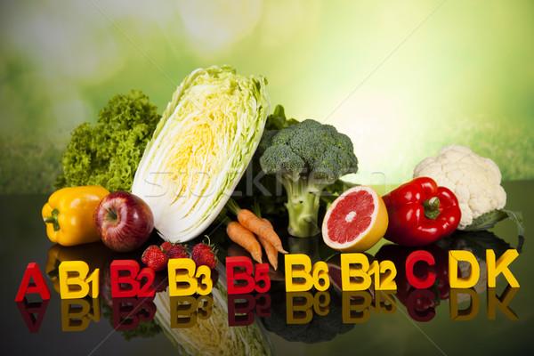 Vitamina saúde fitness frutas frescas vegetal esportes Foto stock © JanPietruszka