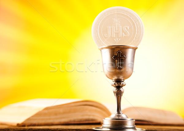 Communie wafeltje heldere jesus kerk brood Stockfoto © JanPietruszka