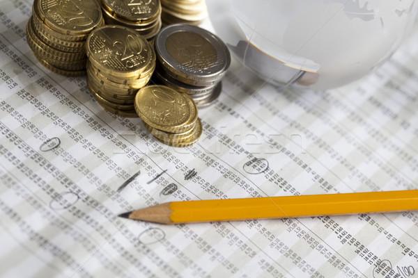 Financière lumineuses coloré affaires papier Finance Photo stock © JanPietruszka
