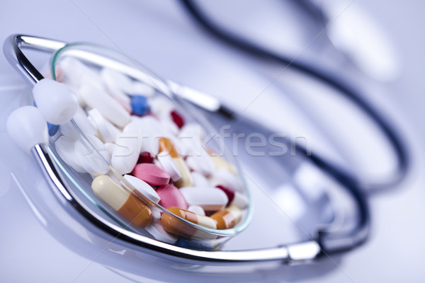 Pills variety, colorful bright medicine concept Stock photo © JanPietruszka