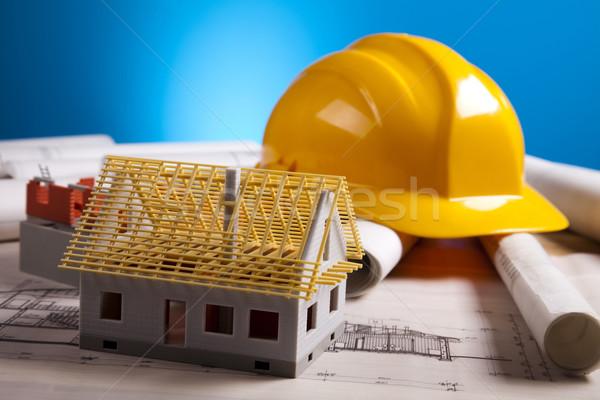 Construcción planes arquitectura arte ciencia edificios Foto stock © JanPietruszka