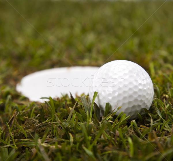 Thumbs up on golf Stock photo © JanPietruszka