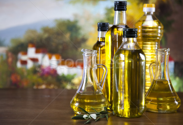 Fresh olives, olive oil  Stock photo © JanPietruszka
