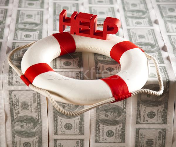 Krise helfen Finanzierung Geld arrow Unterstützung Stock foto © JanPietruszka