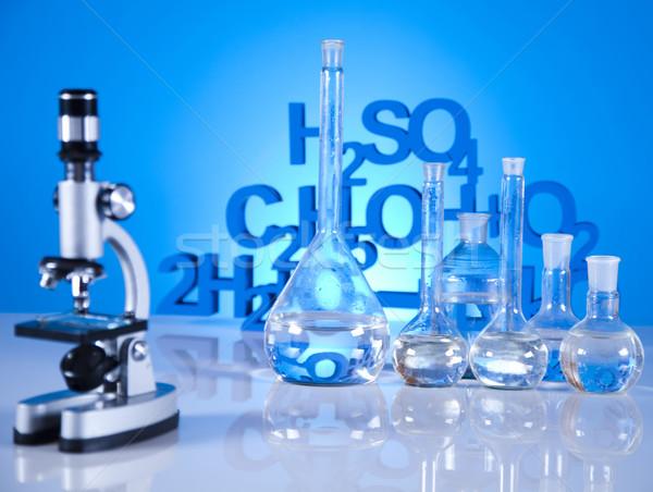 Laboratórium üveg kémia tudomány képlet gyógyszer Stock fotó © JanPietruszka