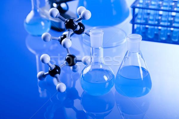 лаборатория изделия из стекла оборудование технологий стекла синий Сток-фото © JanPietruszka