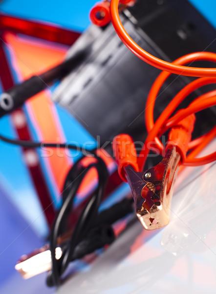 Autó elem kettő kábelek élénk moto Stock fotó © JanPietruszka