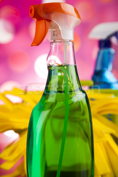 Lavaggio pulizia colorato lavoro home gruppo Foto d'archivio © JanPietruszka